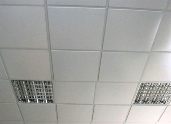 Металлический подвесной потолок кассетного типа