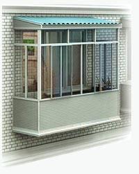балкон остеклить